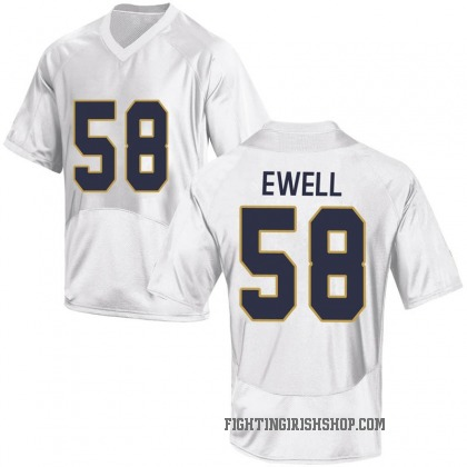 Game Men's Darnell Ewell Notre Dame Fighting Irish Under Armour Football College Jersey - White
