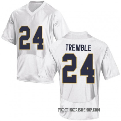 Game Men's Tommy Tremble Notre Dame Fighting Irish Under Armour Football College Jersey - White