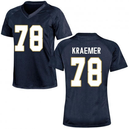 Game Women's Tommy Kraemer Notre Dame Fighting Irish Football College Jersey - Navy Blue