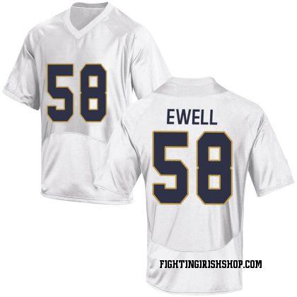 Replica Men's Darnell Ewell Notre Dame Fighting Irish Under Armour Football College Jersey - White