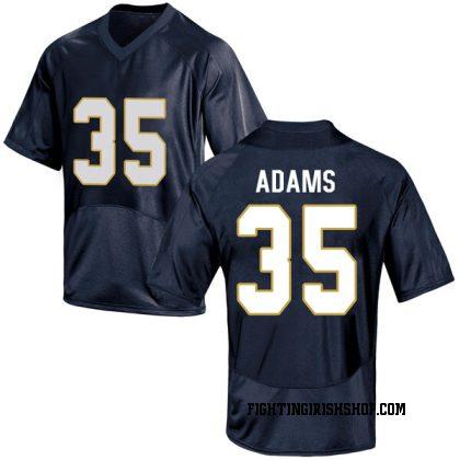 Replica Men's David Adams Notre Dame Fighting Irish Under Armour Football College Jersey - Navy Blue