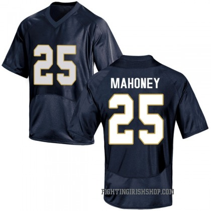 Replica Youth John Mahoney Notre Dame Fighting Irish Under Armour Football College Jersey - Navy Blue