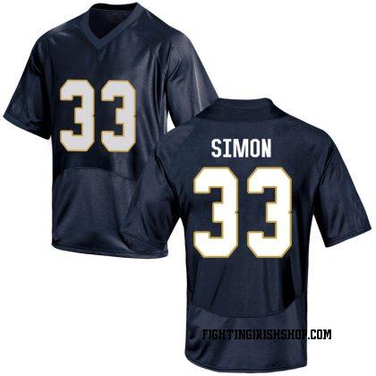Replica Youth Shayne Simon Notre Dame Fighting Irish Under Armour Football College Jersey - Navy Blue
